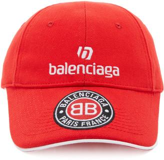 Balenciaga AppliquAd Cotton-Twill Baseball Cap