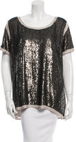DAY Birger et Mikkelsen Sequined Scoop Neck Top w/ Tags