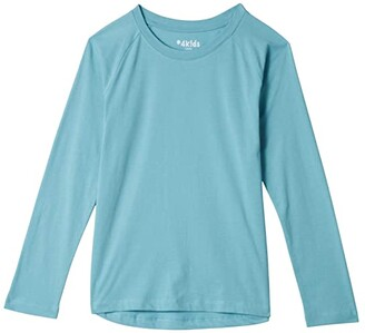 #4kids Essential High-Low Long Sleeve T-Shirt (Little Kids/Big Kids) (White) Girl's Clothing