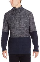 Calvin Klein Jeans Men's Color Block Cable Sweater