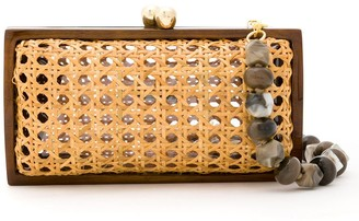 Serpui Marie Woven Clutch Bag