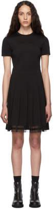 RED Valentino Black Pleated Dress