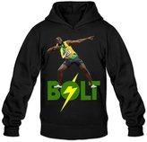 Qung Men's Usain Bolt Hoodies Hooded Sweatshirts M