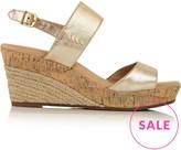 UGG Elena Metallic Wedge Sandals