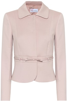 RED Valentino Cotton-blend belted jacket
