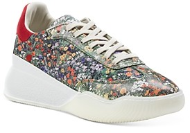 Stella McCartney Women's Floral Printed Lace Up Sneakers