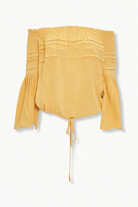 Forever 21 Pintucked Off-the-Shoulder Top
