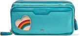 Anya Hindmarch Small appliquéd shell cosmetics case
