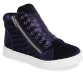Steve Madden Girl's Cafine High Top Sneaker