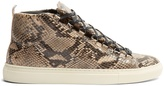 Balenciaga Arena high-top python-effect leather trainers