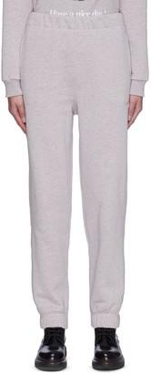 Ganni Isoli' Elastic Waist Cuff Leg Sweatpants