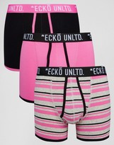 Ecko 3 Pack Trunks Pink Set
