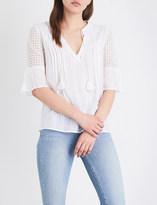 Paige Cecile cotton-gauze top