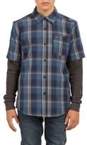 Volcom Boy's Hayes Plaid Layer Shirt