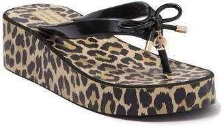 Kate Spade Rhett Platform Leopard Thong Sandal