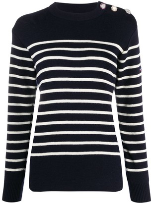 Marc Jacobs Striped Long-Sleeve Jumper