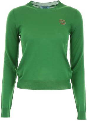 Prada Monogram Embroidered Sweater