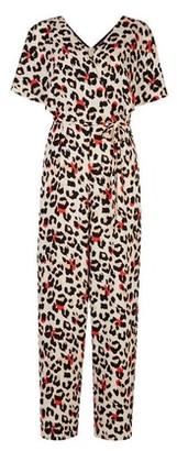 Dorothy Perkins Womens Tall Cream Leopard Print Jumpsuit