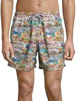 Saks Fifth Avenue COLLECTION Printed Elasticized Swim Shorts