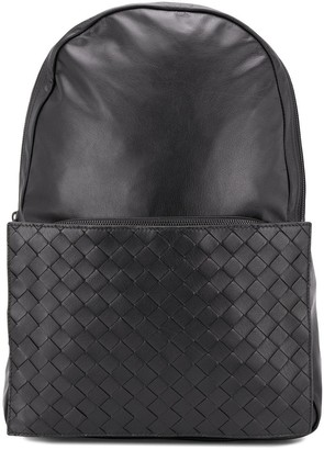 Bottega Veneta Intrecciato Weave Panel Backpack