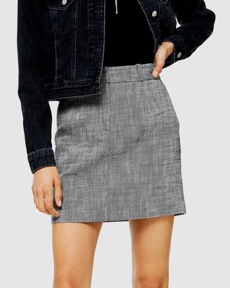 Topshop Monochrome Mini Skirt