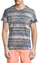Sol Angeles Mudcloth Multi-Print Short-Sleeve T-Shirt, Black Pattern