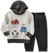 Kids Headquarters Baby Boys' 2-Pc. Emergency Vehicles Hoodie & Denim Jogger Pants Set