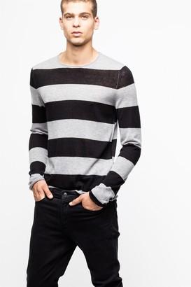 Zadig & Voltaire Teiss Stripe Cachemire Sweater
