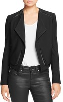 Lysse Leigh Faux Leather Trim Jacket