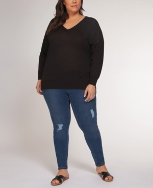 Black Tape Plus Size Drop-Shoulder Sweater