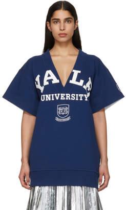 Calvin Klein Blue Yale Edition Short Sleeve University Sweater