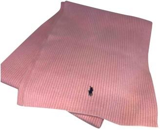 Polo Ralph Lauren Pink Wool Scarves