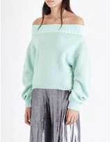 Opening Ceremony Off-the-shoulder knitted jumper