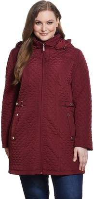 Gallery Plus Size Hood Quilted Jacket