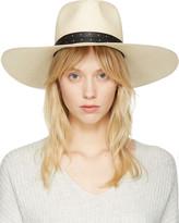 Rag & Bone Beige Wide Brim Panama Hat