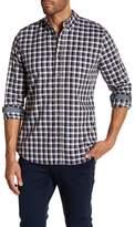 AG Jeans Standard Fit Plaid Long Sleeve Dress Shirt