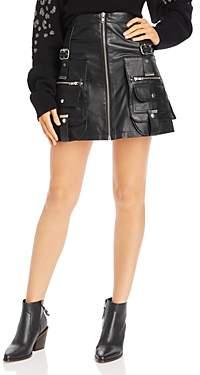 The Kooples Leather Utility Mini Skirt