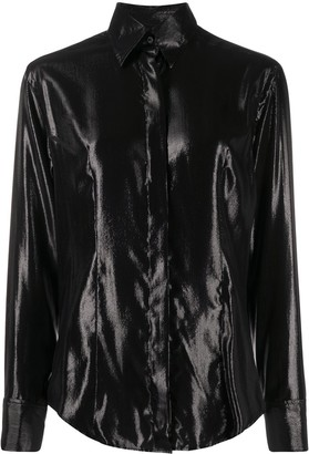 Gianfranco Ferré Pre-Owned 1990s Glossy Effect Shirt