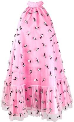 Ganni Embellished Mesh Dress