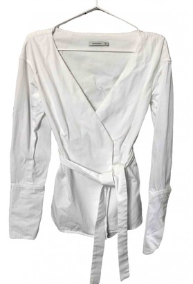 Protagonist White Cotton Top for Women