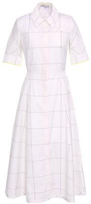 Emilia Wickstead Fluted Checked Cotton-poplin Midi Shirt Dress