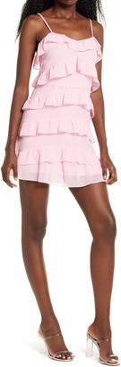 4SI3NNA the Label Shelby Tiered Ruffle Minidress