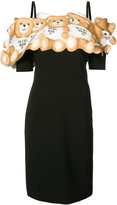Moschino Teddy off the shoulder dress - women - Polyester/Triacetate - 38