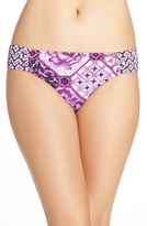 Tommy Bahama Women's Tiles Of Tropics Shirred Bikini Bottoms