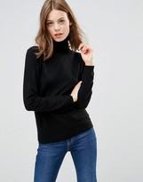 Minimum Eve Wool & Cashmere Mix Roll Neck Sweater In Black