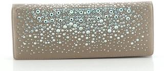 Gucci Broadway Clutch Crystal Embellished Satin Long