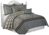 Serenta Mystic Quilted 7 Piece Bed Spread Set, Charcoal, Queen