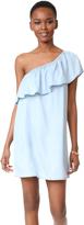 BB Dakota One Shoulder Ruffle Dress