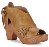 Free People Revolver Open-Toe Platform Leather Clogs