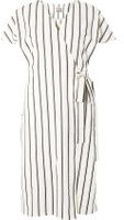 Dorothy Perkins Womens **Vero Moda White And Navy Stripe Wrap Dress- White